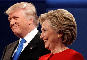 Donald Trump and Hillary Clinton in the first presidential debate