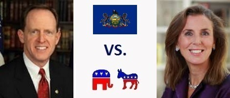 Pennsylvania Senate Election 2016 - Pat Toomey vs. Katie McGinty