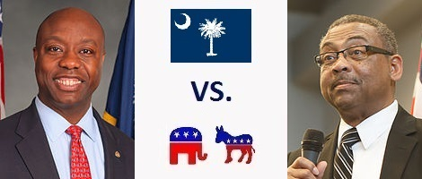 South Carolina Senate Election 2016 - Tim Scott vs. Thomas Dixon