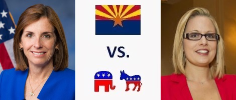 Arizona Senate Election 2018 - Martha McSally vs. Kyrsten Sinema