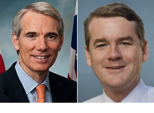 Republican Rob Portman, Ohio, and Democrat Michael Bennet, Colorado